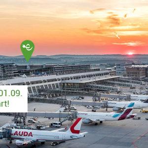 Elektrisch mobil mit dem grünen Hirsch – jetzt auch am Flughafen Stuttgart